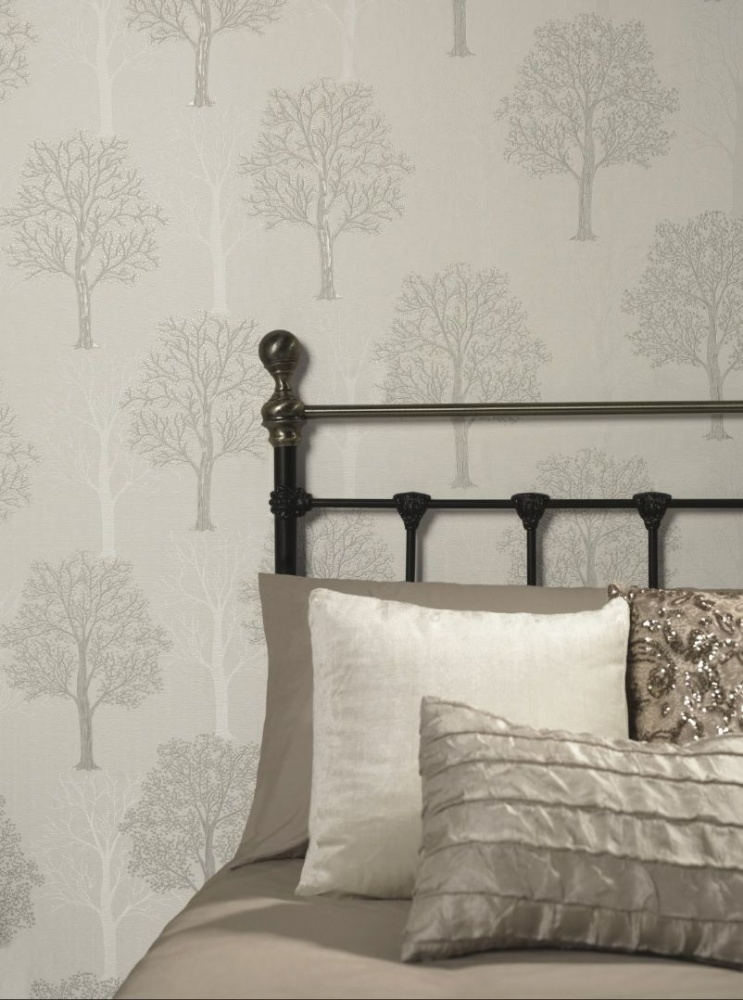 Holden Decor Ornella Tree Grey 35253 Wallpaper